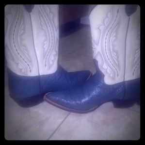 Ostrich (Leather) Cowboy Boots